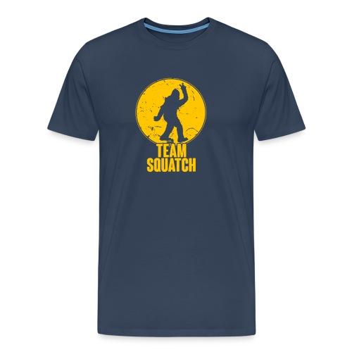 Retro Bigfoot Silhouette - Men's Premium T-Shirt