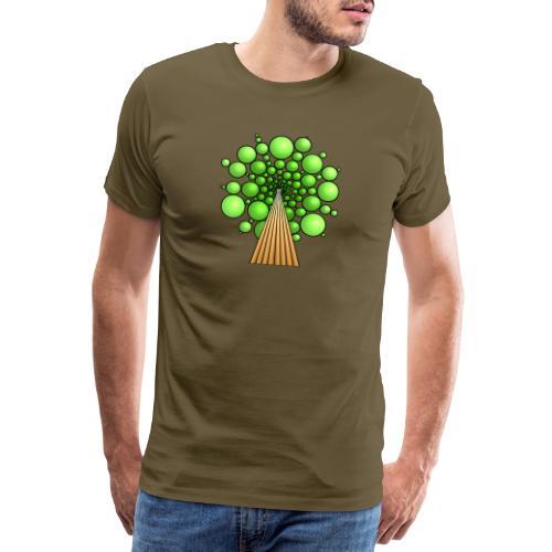 Kugel-Baum, 3d, hellgrün - Männer Premium T-Shirt