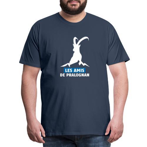 Logo Les Amis de Pralo grand blanc - T-shirt Premium Homme