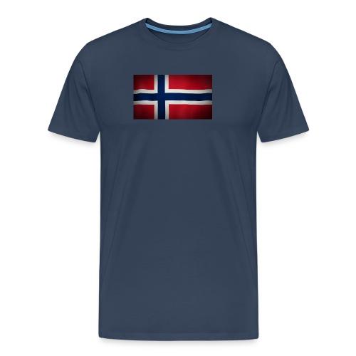 Norsk Flagg - Premium T-skjorte for menn