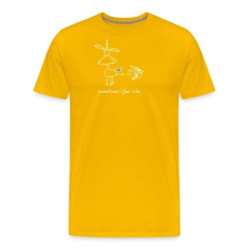 Dru - sometimes I feel like... (weisse Outline) - Männer Premium T-Shirt