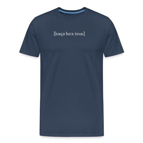 Lautschrift Weiss - Männer Premium T-Shirt