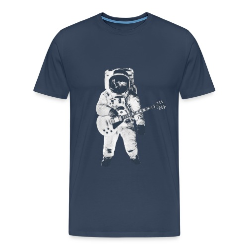 Guitar on the moon - T-shirt Premium Homme