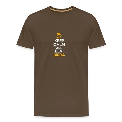 KEEP CALM AND BEVI BIRRA - Maglietta Premium da uomo