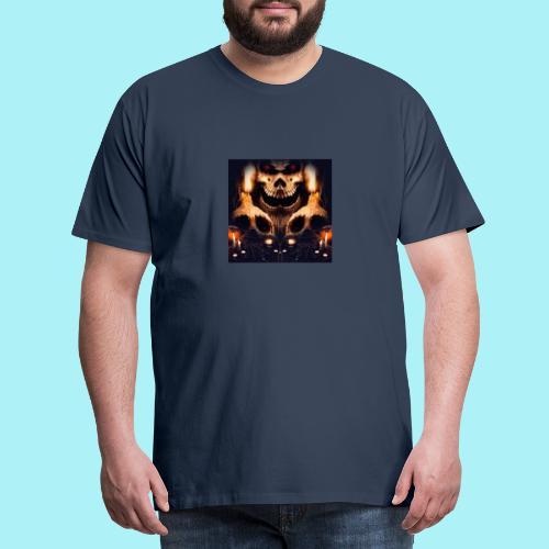 Tête de mort à la chandelle - T-shirt Premium Homme