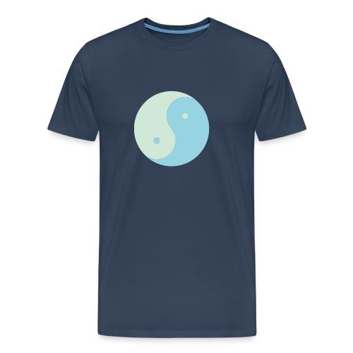 yinyang soft green soft blue - T-shirt Premium Homme
