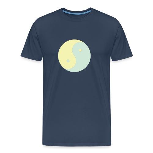 yinyang soft yellow soft green - T-shirt Premium Homme