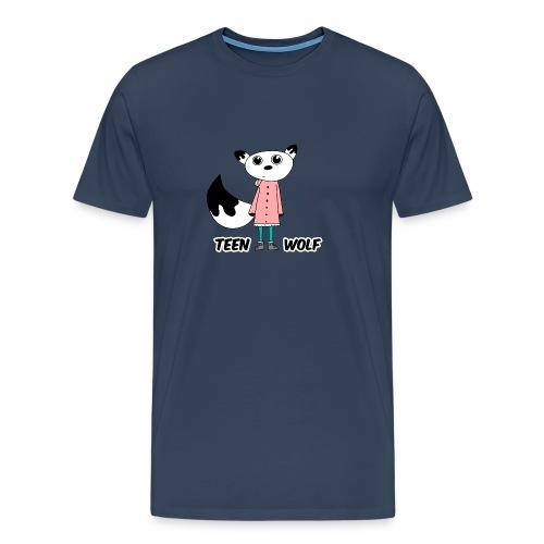 Lustiger Teen Wolf mit Jacke für den Winter - Männer Premium T-Shirt