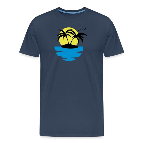 Island, Sun and Sea - Men's Premium T-Shirt