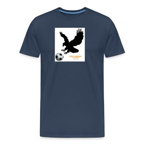 Aguila norteamericana con balón de fútbol - Camiseta premium hombre