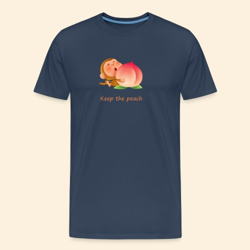 Monkey Keep the peach - T-shirt Premium Homme