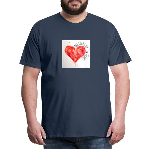 Matters of the Heart - Premium-T-shirt herr
