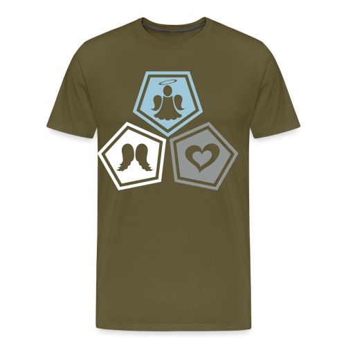 Tee shirt baseball Enfant Trio ange, ailes d'ange - Men's Premium T-Shirt