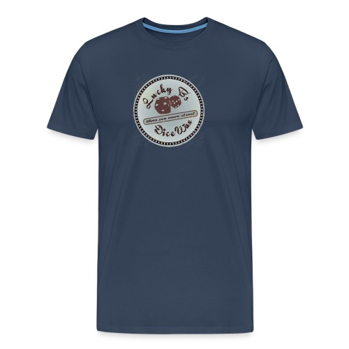 luckybsdicewaxdistressed - Men's Premium T-Shirt