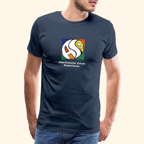 AS (weisse Schrift) - Männer Premium T-Shirt