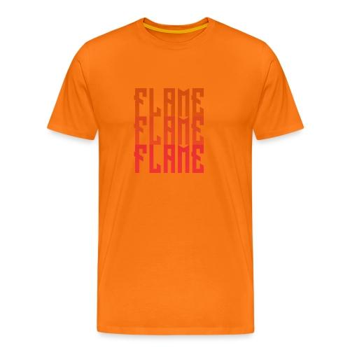 maglietta_flame_flame_flame - Maglietta Premium da uomo