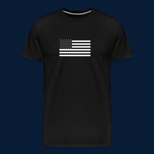 Stars and Stripes White - Männer Premium T-Shirt