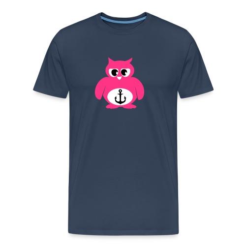 Eule Anker - Männer Premium T-Shirt