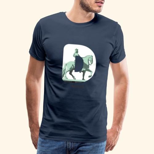 Düsseldorf T-Shirt Jan Wellem D weiß - Männer Premium T-Shirt