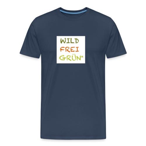 Logo WILD FREI GRÜN jpg - Männer Premium T-Shirt