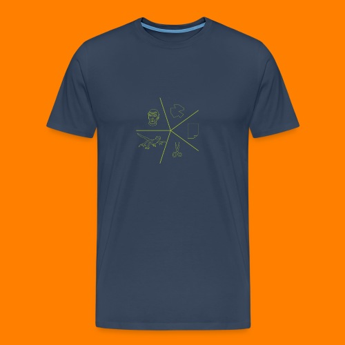 Rock paper scissors lizard spock - Men's Premium T-Shirt