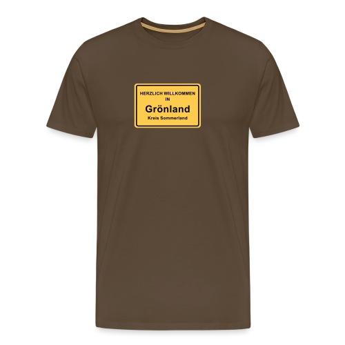 Ortsschild Grönland - Männer Premium T-Shirt