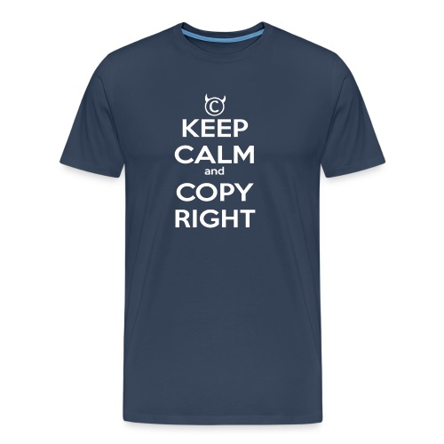Keep Calm and Copyright - Tank for the individual - Männer Premium T-Shirt