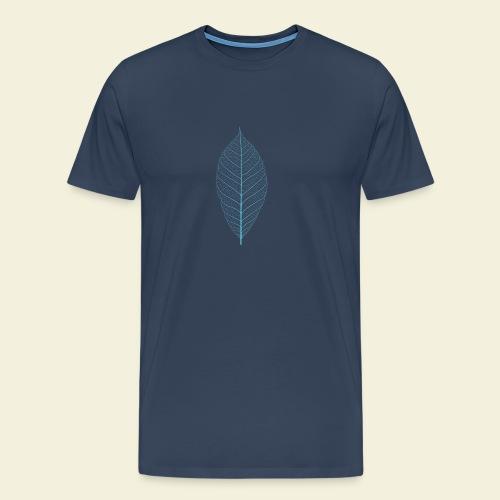 Feuille bleu Squelette - T-shirt Premium Homme