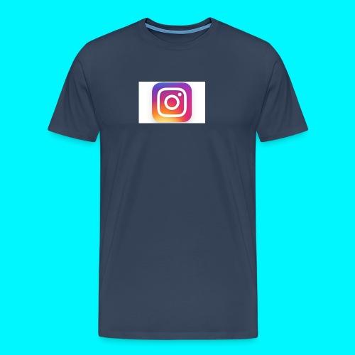 new instagram logo large trans - Men's Premium T-Shirt