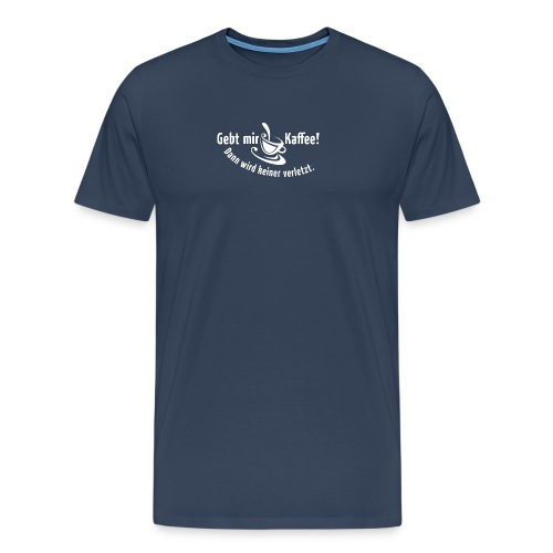 Kaffee Koffein Montag früher Vogel Morgen Latte - Men's Premium T-Shirt