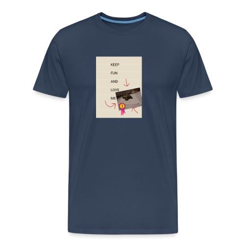Keep fun and love me - Miesten premium t-paita