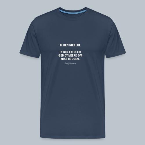 SHIRT 1 ~ Instagram @wijtieners - Mannen Premium T-shirt