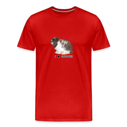 I Love Bunnies Luppis - Miesten premium t-paita