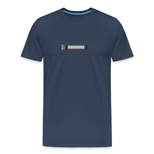 Red stripe down! - Men's Premium T-Shirt