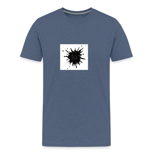 Blacktuber Splash Logo - Mannen Premium T-shirt