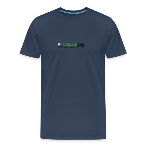 White YouTube Banner Tee - Men's Premium T-Shirt