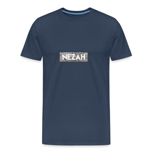 Nezah Snake Skin Box Logo - Men's Premium T-Shirt