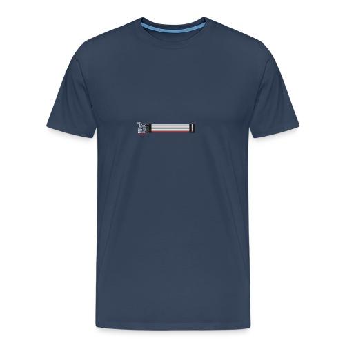 Red stripe down! - Men's Premium T-Shirt