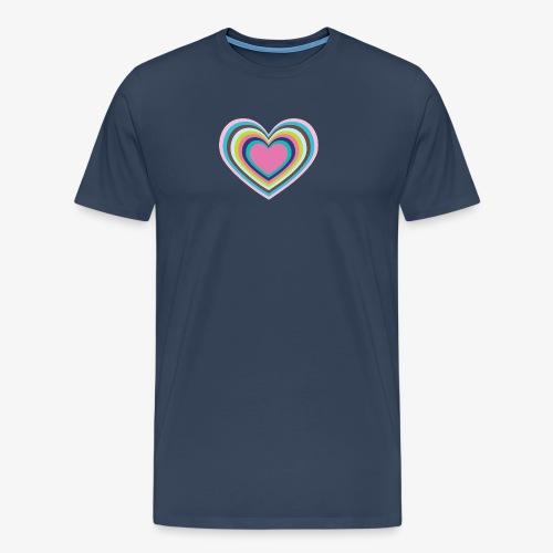 Psychedelic Heart - Men's Premium T-Shirt