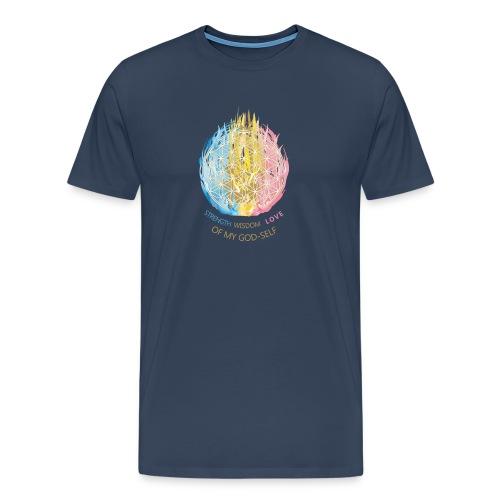 Blume des Lebens & Dreifältige Flamme - Männer Premium T-Shirt