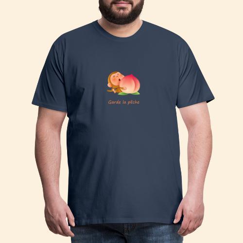 Singe Garde la pêche - T-shirt Premium Homme