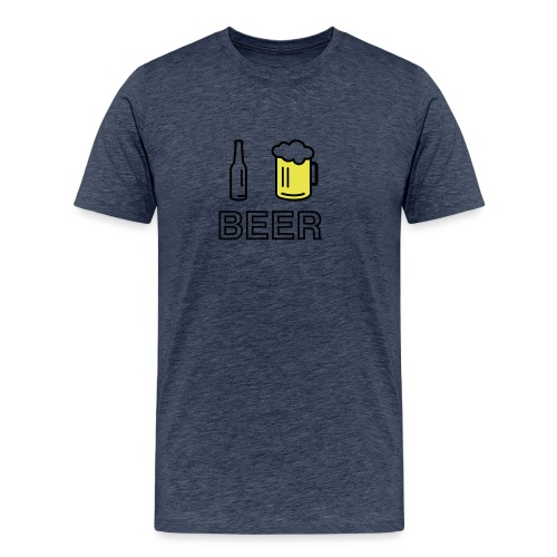 I Love Beer (2-farbig) - Männer Premium T-Shirt