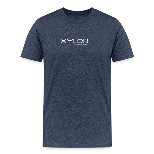 Xylon Handcrafted Guitars (name only logo white) - Men's Premium T-Shirt