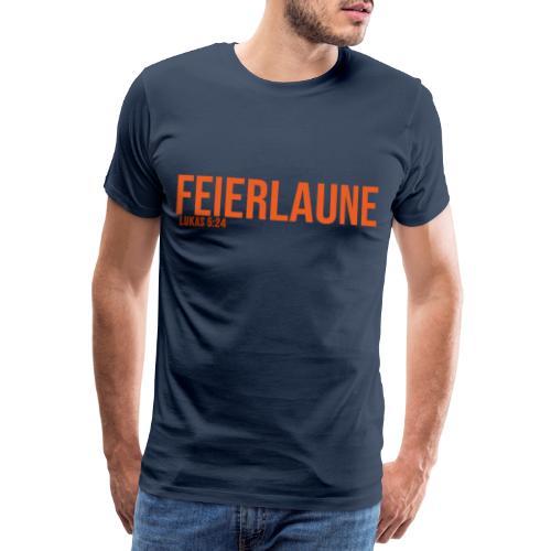 FEIERLAUNE - Print in orange - Männer Premium T-Shirt