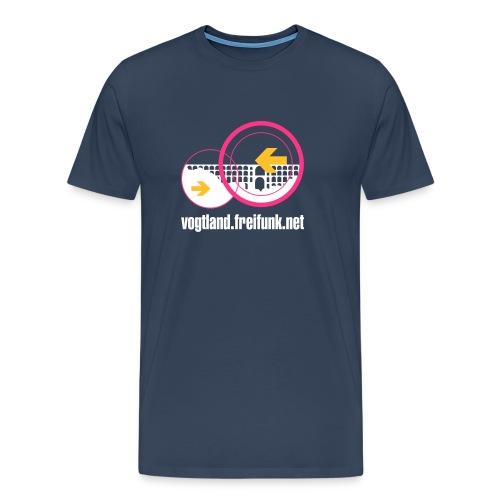 freifunkvogtland ondark domainname cmyk - Männer Premium T-Shirt