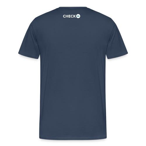 checkde Logo white png - Männer Premium T-Shirt