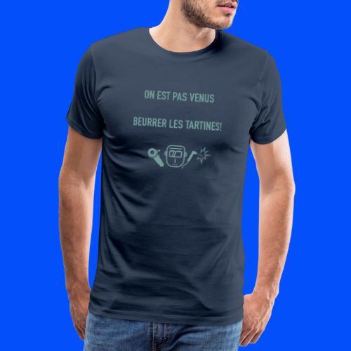 Logo vert sur gris - T-shirt Premium Homme