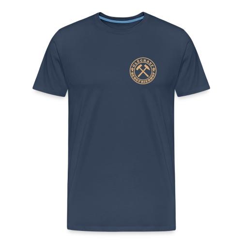 Wappen Glückauf klein Plott - Männer Premium T-Shirt