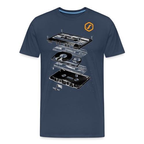 logo sos wave yellow 431 png - Männer Premium T-Shirt