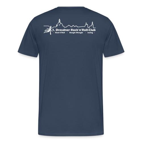 Logo Rock n Roll weiß - Männer Premium T-Shirt
